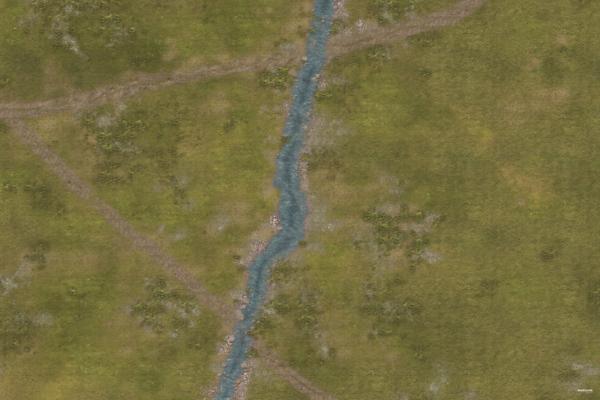 Eine Tabletop Battle Mat im Fluss Design.