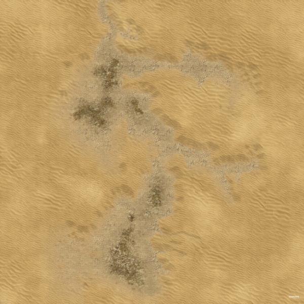 Eine Tabletop Battle Mat im Wüste Design.