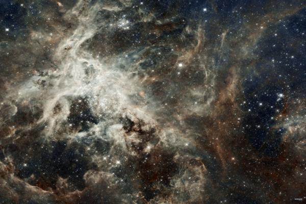 Eine Tabletop Battle Mat im Galaxie Design.