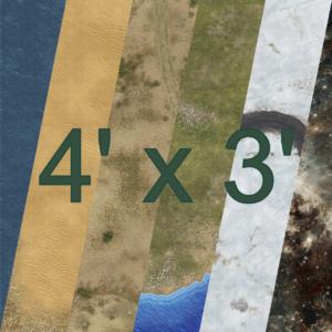 4' x 3'
