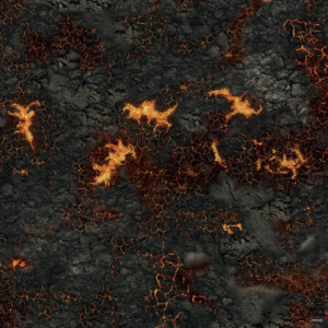 Eine Tabletop Battle Mat im Lava Design.