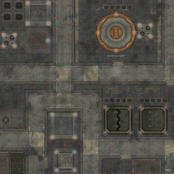 Eine Tabletop Battle Mat im Stadt Design.