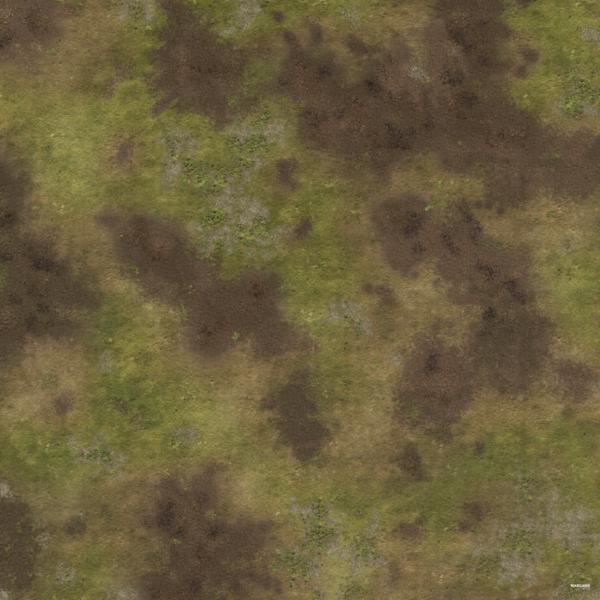 Eine Tabletop Battle Mat im Waldboden Design.