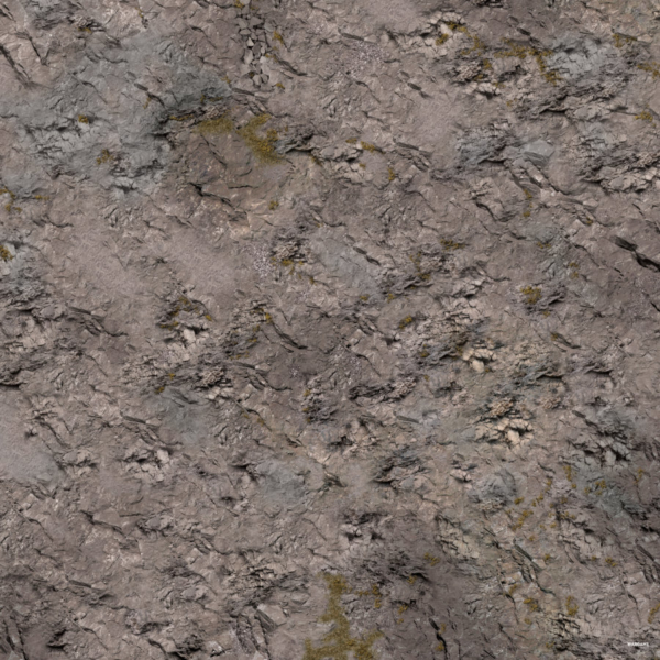 Eine Tabletop Battle Mat im Felsen Design.